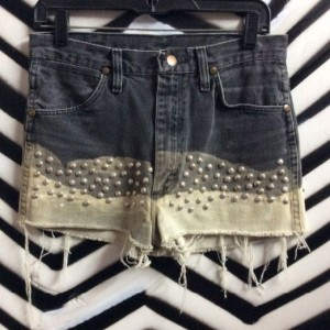 Shorts Dip-Dyed Studded 1