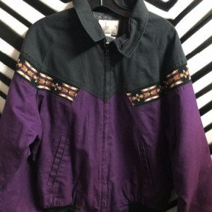 CANVAS ZIPUP JACKET AZTED WESTERN 1