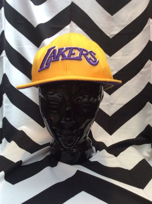 product details: LAKERS BASEBALL HAT W/PUFFED EMBROIDERED LETTERING photo