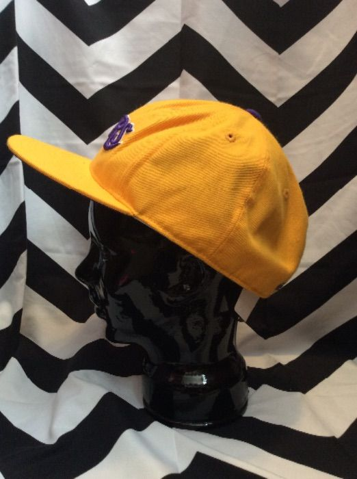 LAKERS CAP HAT YELLOW AND PURPLE 5