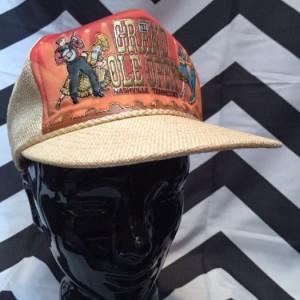 Cream Mesh Hat Grand Ole Opry 1