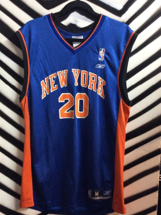 e257a92ad NEW YORK KNICKS BASKETBALL JERSEY - HOUSTON  20 » Boardwalk Vintage