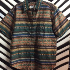 BD SS ETHNIC WOVEN SHIRT BROWN 1