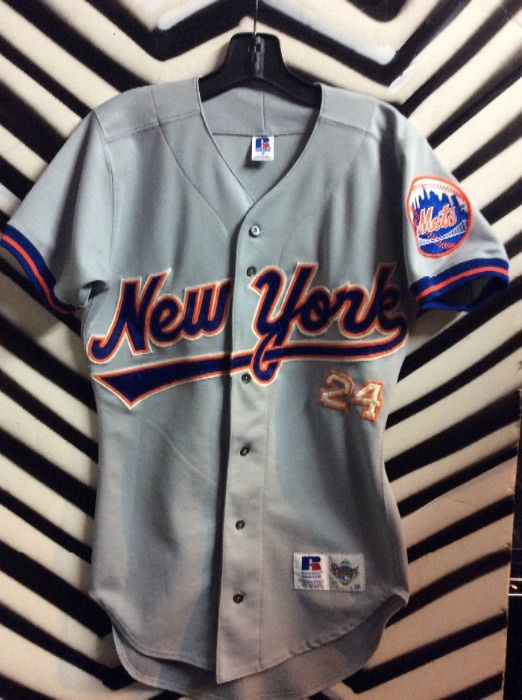 best cheap ca2c3 212b8 NEW YORK METS #24 BASEBALL JERSEY - GREY