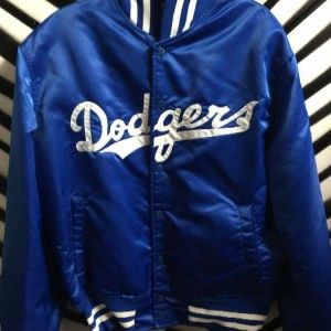 DODGERS SATIN BASEBALL JACKET 1