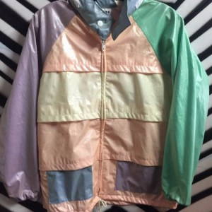 PASTEL RUBBERIZED WINDBREAKER JACKET 1