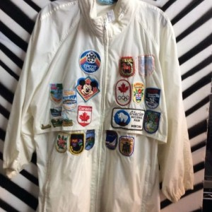 WINDBREAKER W/ TONS OF PATCHES 1