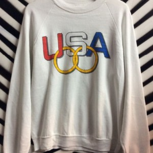 PULLOVER SWEATSHIRT USA OLYMPIC RINGS 1