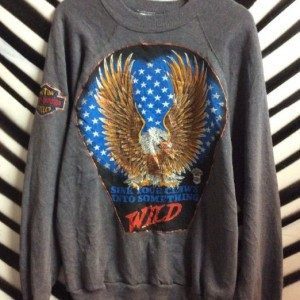 PULLOVER SWEATSHIRT WILD EAGLE PUFFY PAINT 1