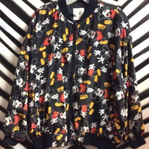 ALLOVER PRINT MICKEY MOUSE BOMBER JACKET 1