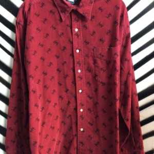 LS BD CORDUROY POLO WITH SKIERS 1