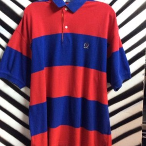SS BD POLO RUGBY STRIPED SHIRT RED 1