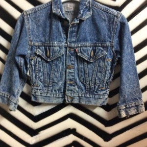 ACID WASH DENIM JACKET SUPER SMALL FIT 1