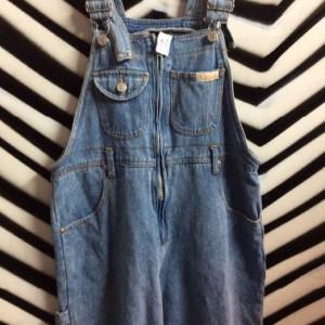 Light denim overalls w/ zipup front 1