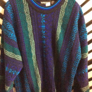 1990S PULLOVER COSBY SWEATER AZTEC PATTERN 1