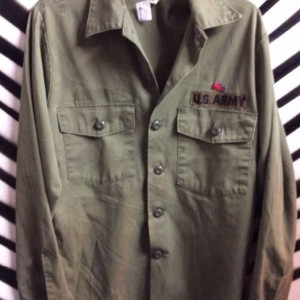 LS BD US ARMY SHIRT LACOSE PATCH SMALL FIT 1