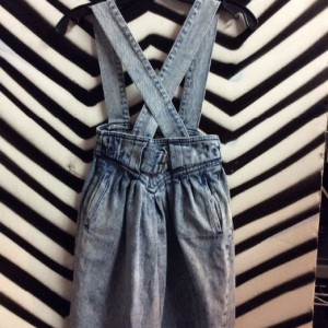 Acid WASH OVERALLS ZIPPER FRONT 1