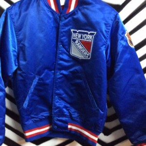 NEW YORK RANGERS SATIN STARTER JACKET 1