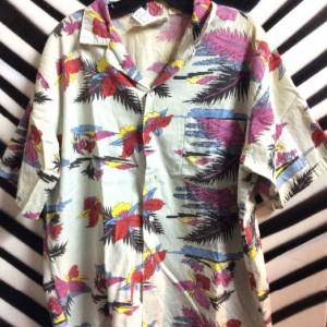 HAWAIIAN SHIRT TROPICAL FLOWER PRINT 1