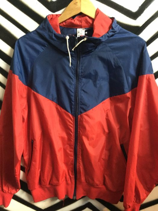14f07e442c37 Nike windbreaker color block blue tag as-is » Boardwalk Vintage