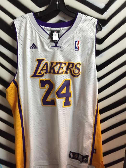 ef1d8e130 LA LAKERS ADIDAS BASKETBALL JERSEY - KOBE BRYANT  24 » Boardwalk Vintage