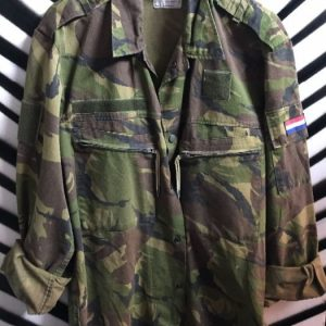 CAMO MILITARY JACKET LIGHT WEIGHT FRENCH FLAG 1