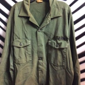 LS BD MILITARY SHIRT US ARMY 1