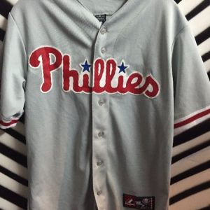 Philadelphia Phillies Buttonup Baseball Jersey #3 as-is 1