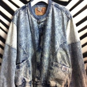 80S LEVIS BOMBER JACKET STRIPED PATCHES 1
