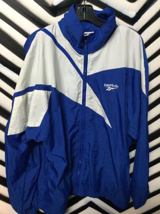 cc17268c5fd6c RETRO REEBOK WINDBREAKER - HOODED W/COLOR BLOCK DESIGN