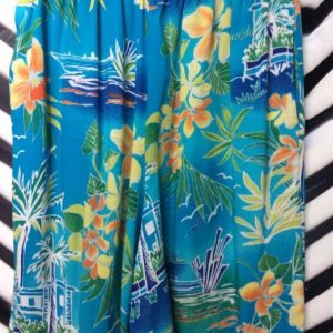 RAYON HAWAIIAN PRINT SHORTS 1