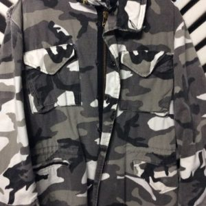 HEAVY MILITARY JACKET SNOW CAMO #RARE COLOR 1