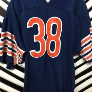 RETRO SS FOOTBALL JERSEY COTTON #38 STRIPED SLEEVES 1