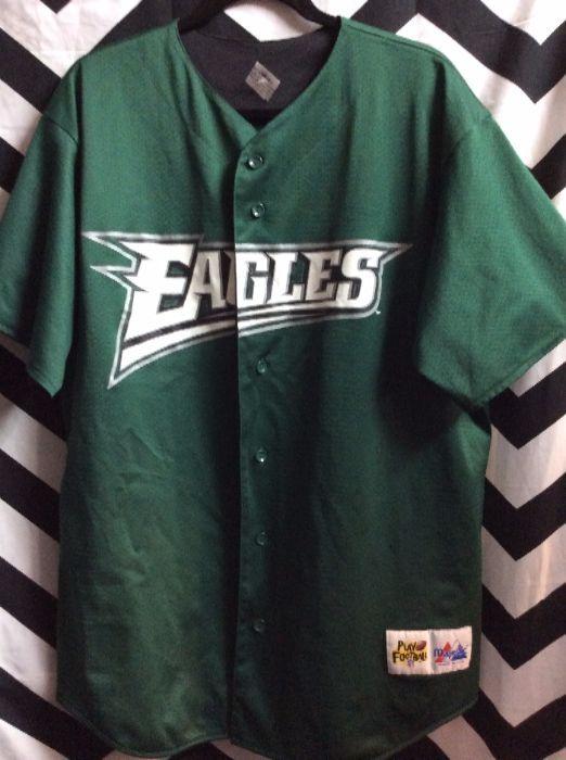 promo code cce5d 603ca philadelphia eagles baseball shirt