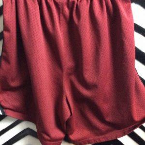Burgundy Russel basketball shorts 1