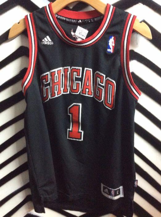 4916af8c357 CHICAGO BULLS #1 ROSE ADIDAS BASKETBALL JERSEY » Boardwalk Vintage