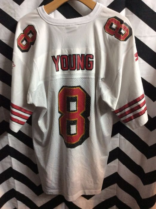 SF 49ERS  8 YOUNG STARTER FOOTBALL JERSEY » Boardwalk Vintage 9ce6178a4
