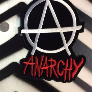 LARGE BACK PATCH- ANARCHY VELVET, RED BLACK 1