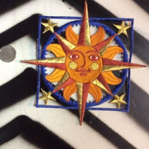 LARGE BACK PATCH- SUNFACE BLUE SQUARE WITH STARS 1