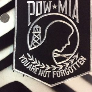 LARGE BACK PATCH- POW MIA YOU ARE NOT FORGOTTEN 1