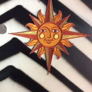 LARGE BACK PATCH- GOLDEN SUN FACE COMPAS 1