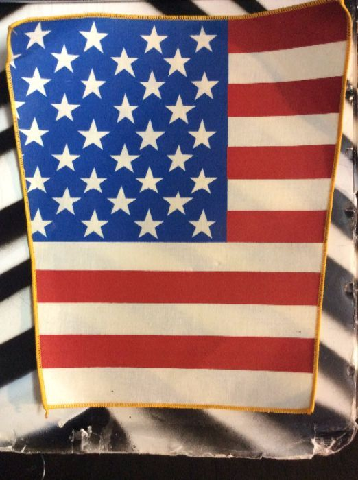 LARGE BACK PATCH- AMERICAN FLAG SEW ON BACK PATCH *old stock 1