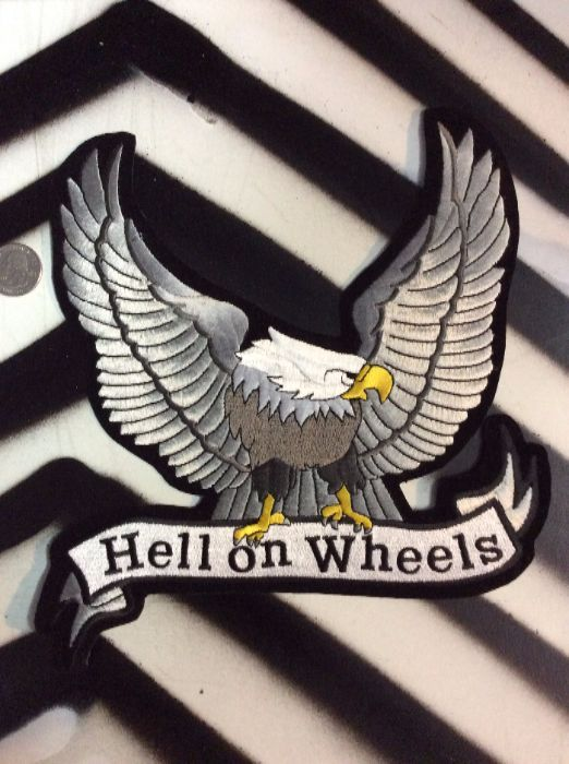 LARGE BACK PATCH- Hell on Wheels Eagle 1