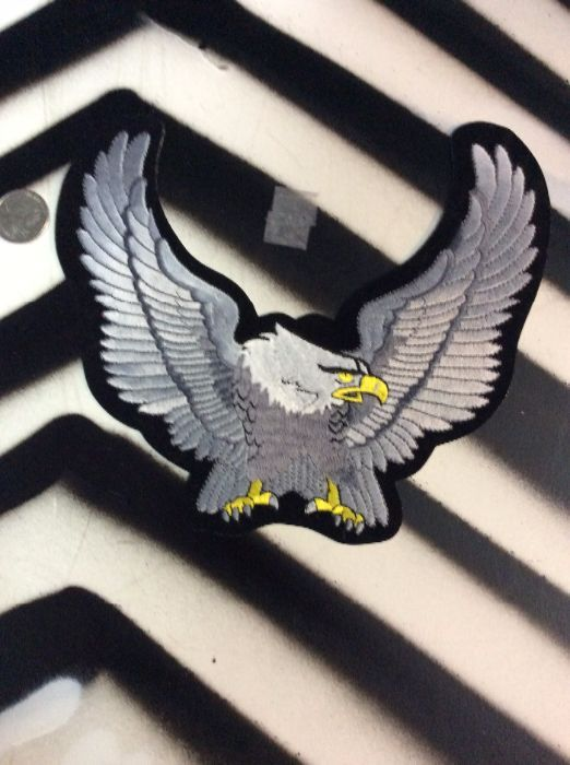 LARGE BACK PATCH- AMERICAN EAGLE GREY WINGS 1