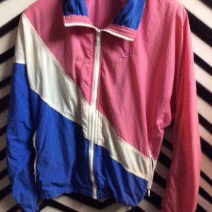 Nike PASTEL Pink, white, blue colorblock windbreaker 2