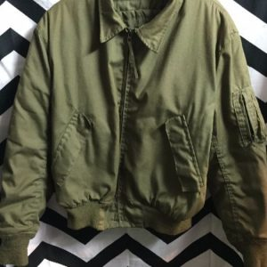 AMERICAN MILITARY BOMBER JACKET ZIP UP as-is 1