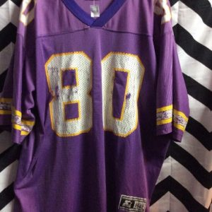 STARTER VIKINGS #80 CARTER FOOTBALL JERSEY as-is 1