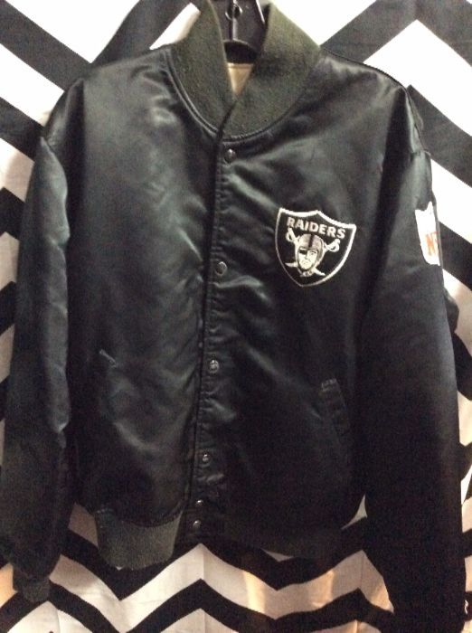 low priced 1289b 37bb4 LA RAIDERS STARTER JACKET W/APPLIQUED LETTERING ON BACK