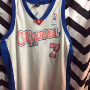 LA CLIPPERS BASKETBALL JERSEY ODOM #7 1
