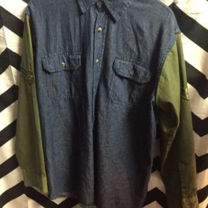 BD LS Military Shirt Denim Sleeves 1
